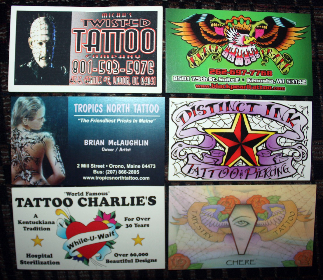 Jay Brown: 25 Years of Tattoo Business Cards | Tattoo Artist Magazine