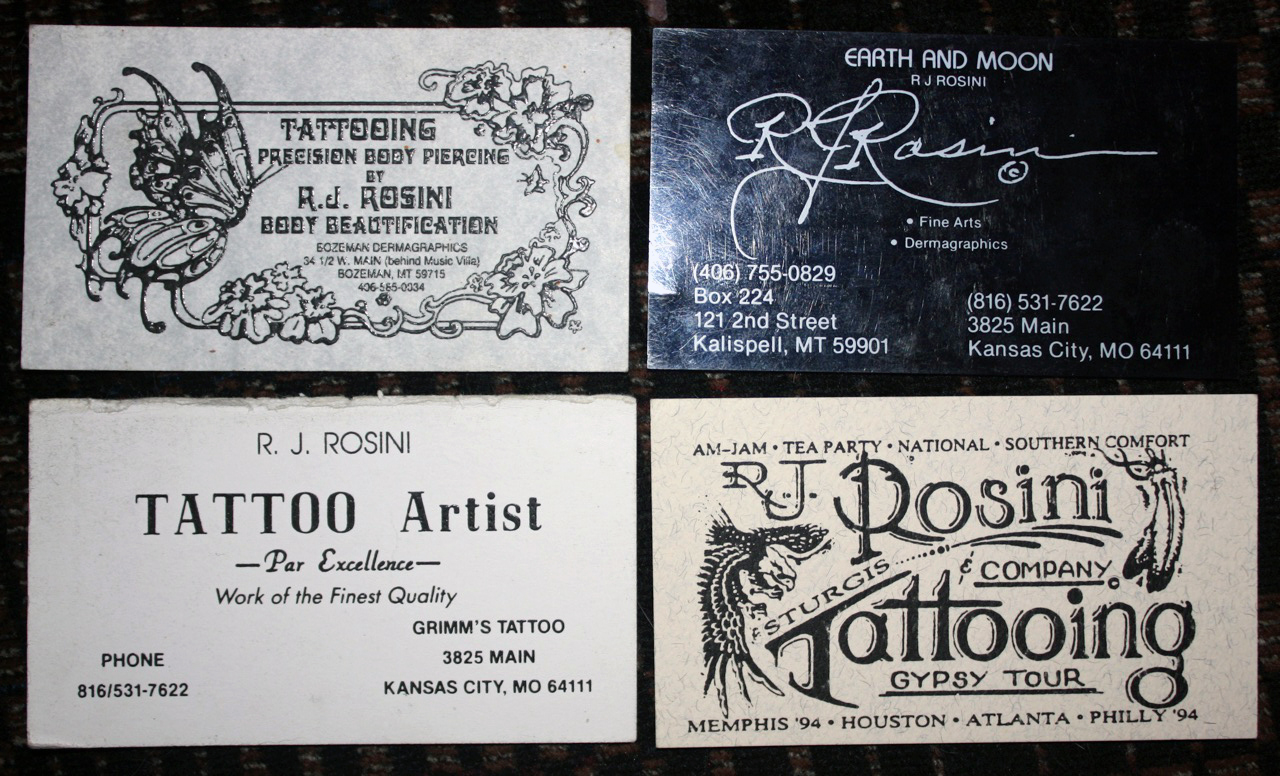 jay brown 25 years of tattoo business cards tam blog. Black Bedroom Furniture Sets. Home Design Ideas