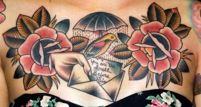 hollys chest piece tattoo myke chambers