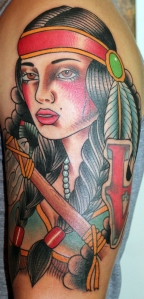 indian girl start of sleeve tattoo myke chambers