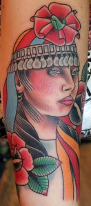 mapuche indian indian girl tattoo myke chambers
