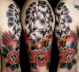 Pirate ship tattoo myke chambers