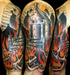 tomb skulls tattoo myke chambers