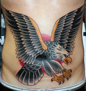 eagle tattoo on stomach myke chambers