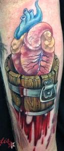 melissa fusco colorado tattoo artist love bucket antatomical heart tattoo