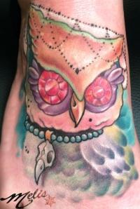 melissa fusco colorado tattoo artist owl day of the dead tattoo