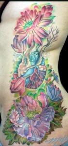 melissa fusco peony anatomical lotus flower tattoo artist
