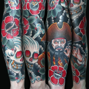 pirate sleeve tattoo myke chambers lower