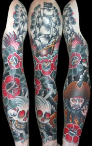 pirate sleeve tattoo myke chambers