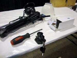 Convention_Booth_Set_Up_Part_2_Light_Clamp_by_Larry_Brogan