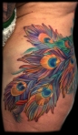 melissa fusco artist peacock feathers tattoo