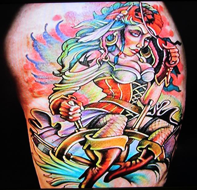 Blood Pudding Pin Up Tattoo