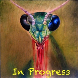 melissa fusco marying mantis oil painting in prog