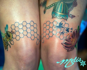 melissa-fusco-tattoo-bee's-knee's-honey-comb-tattoo-web