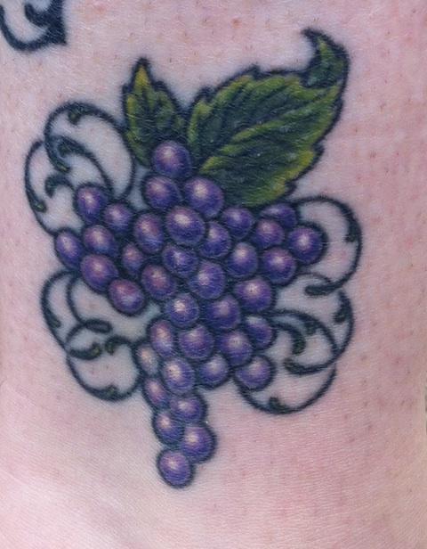 wine tattoo 2