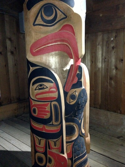 Totem at Native herritage museum Anchorage