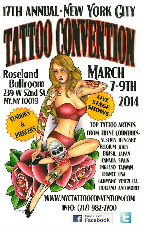 NYC Tattoo Convention flyer