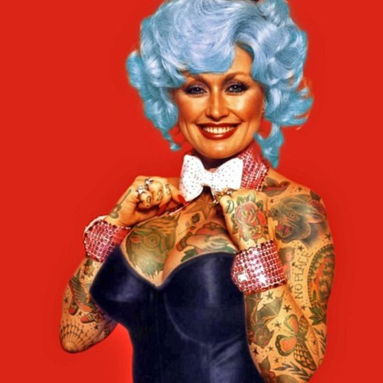 What Would Classic Celebrities Look Like Covered With Tattoos - Artist reimagines celebrities covered in tattoos